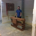 Bricklayer, Matt was given the hard task!