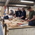 Carpentry students working on their courses