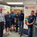 Able Skills welcomes BPEC to its Dartford training centre - image shows Able Skills Directors, Angela Wright and Gary Measures recently welcomed BPEC's Chief Executive Officer, Neil Collishaw